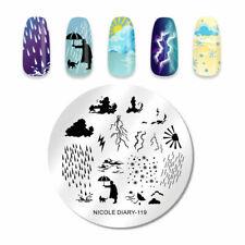 Nail Art Stamping Plate Image Decoration Raining Rain Thunder Lightning (ND119)