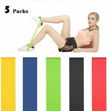 Resistance Bands Workout Loop Set of 5 Legs Exercise Fitness Yoga Booty Band USA