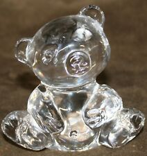 Vintage Lead Crystal 24% PBO Teddy Bear Figurine Genuine Cristal West Germany