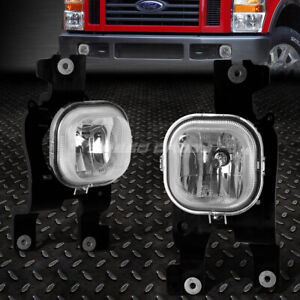 FOR 08-10 FORD F250 F350 F450 F550 SUPER DUTY CLEAR LENS DRIVING FOG LIGHT LAMPS