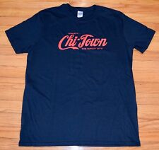 Chi-Town, Enjoy the Windy City Chicago T-Shirt, Men's Size LARGE, Black Cotn NEW