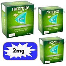 Nicorette Gum Original 2mg of 210 pieces Expiry August / 2021   3 Packs -12/2021