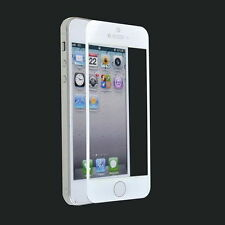 GGS Self-Adhesive Glass LCD Screen Protector For Apple iPhone 5 White UK Seller