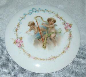 ANTIQUE LIMOGES Porcelain CHERUBS Plaque LOT L