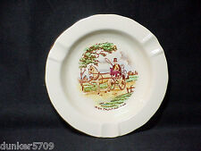 1 ROUND WHITE CHINA CROWN DEVON FIELDING'S ASHTRAY IRISH SCENE 4 3/4 IN ACROSS