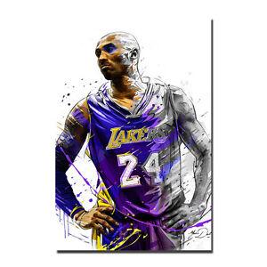 Watercolor Kobe Bryant Poster Basketball Art Silk Poster 12x18 24x36 inch