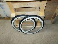 2 Tyre & 2 Inner Tubes 28 x 1 5/8 White/Black Michelin Bike Men's