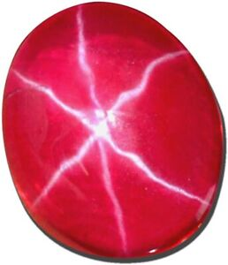 Loose Gemstone Red Star Ruby 6 Rays 9.40 Carat Natural Untreated Oval Certified B8970