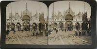 Venezia Place Chiamato Italia Fotografia Stereo Vintage