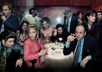 THE SOPRANOS TV Show PHOTO Print POSTER Series Cast Art James Gandolfini Tony 05