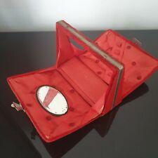 BOÎTE À COUTURE Ancienne Époque 1900 Velours Satin Capitonné French Sewing Box