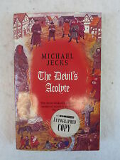 SIGNED Michael Jecks THE DEVIL'S ACOLYTE 2002 1st PB Printing Headline London
