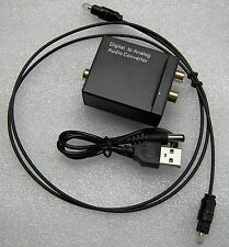 DIGITAL TOSLINK COAXIAL TO ANALOG RCA L R AUDIO CONVERTER. CONVERTIDOR ANALOGICO