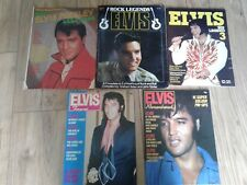 ELVIS PRESLEY - COLLECTION OF 5 X MAGAZINES LOTS OF PIN UPS INFO ETC