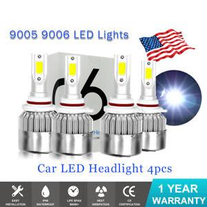 For Chevy Tahoe 2001-2006 4x Combo LED Headlight High Low beam 6000K Light Bulbs