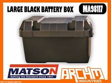 MATSON MA98117 -  LARGE BLACK BATTERY BOX - TIE DOWN STRAP MOUNTING HARDWARE