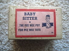 VINTAGE BABY SITTER PEE WEE POT FOR PEE WEE TOTS  - BOXED NOVELTY GAG GIFT