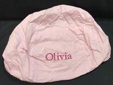 Pottery Barn Kids Light Pink Twill Anywhere Beanbag Slipcover Monogram Olivia