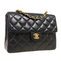CHANEL Quilted CC Single Chain Shoulder Bag 2157948 Purse Black Leather A54175