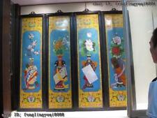 Rosewood inlay Copper cloisonne flowerage Vase Qin Qi Shu Hua folding screen Set