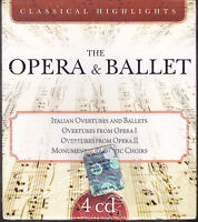 4 CD Box Cofanetto THE OPERA & BALLET• CLASSICAL HIGHLIGHTS • VERDI ROSSIN nuovo