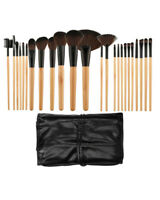 Maquillage Brosses Set 24 Pièces Noir + Étui
