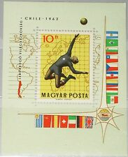 HUNGARY UNGARN 1962 Block 34 A 1453 Soccer World Cup Chile Fußball WM MNH