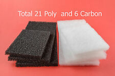 AQUA ONE 980 compatible 21 Deluxe Poly & 6 Carbon Filter Pads  5W / 5C cartridge