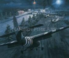Horsa Glider D-Day Pegasus Bridge Aircraft Painting Art Print