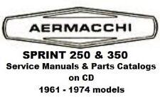 26+ AMF Aermacchi Harley Sprint service manuals & parts catalogs 1961-1974