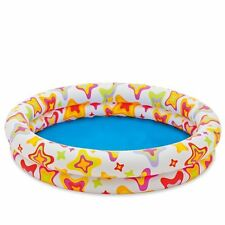 """Swimming Pool Kids Children Inflatable Stars Round 2 Ring 10"""" Deep Ages 1+"""