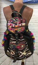 Women's Catori Bohemian Aztec Printed Backpack Diaper Bag Embroidered Detail Euc