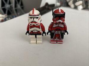 LEGO Star Wars Clone Commander Fox And Shock Trooper Lot Of 2