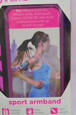 iHome Smartphone Running Armband Water Resistant Android iPhone Neon Pink
