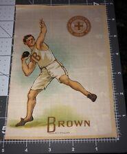 S21 1910's Large Tobacco College Sport Silk - Brown University - Shot Put Bruins