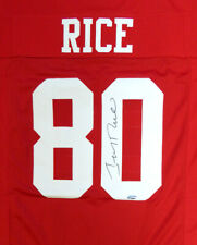 SAN FRANCISCO 49ERS JERRY RICE AUTOGRAPHED SIGNED RED JERSEY TRISTAR 104221
