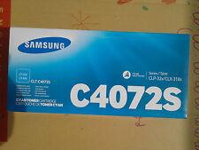 GENUINE ORIGINAL Samsung CLT-C4072S Cyan Toner Cartridge CLP-32x/CLX-318x C4072S