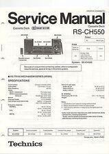 Istruzioni di servizio MANUAL LIBRETTO TECHNICS rs-ch550 Cassette Deck (b614)