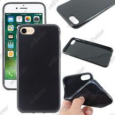 Housse Etui Coque Souple Silicone Gel Noir Apple iPhone 7 4.7 pouces