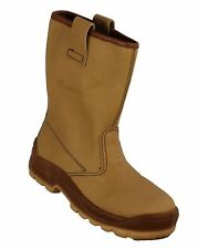 SIZE 8 JALLATTE JALHAKA (COMPOSITE JALASKA) BROWN LEATHER RIGGER BOOTS JO650