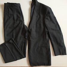 Mani Giorgio Armani 41 L Gray Three Button Suit Jacket Pleated Trousers 36x30.5