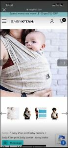 baby k'tan baby wrap, size small (6-8), savvy snake print. Use from 6-35 lbs.