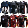 Superhero Men Compression Gym Sport T-shirts Spiderman Thor Cosplay Muscle Tops