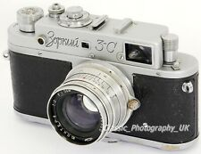 Zorki 3-C 35mm Cámara Telemétrica + Lente de 8 2/50 Mm-Jupiter fabricada en la URSS en 1956