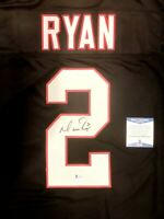 Matt Ryan Autographed Falcons Custom Black Throwback Football Jersey BAS COA