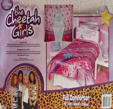 CHEETAH GIRLS FULL COMFORTER SHEETS DRAPES 6PC BEDDING SET NEW