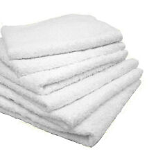 10 LBS WHITE 100% COTTON 12''X12'' TERRY SHOP BAR WIPING CLOTHS CLEANING TOWELS