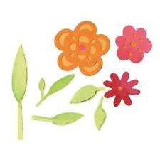 Sizzix Sizzlits Die Set 3PK - Flowers & Leaves Set - 657385
