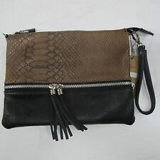 JN PLUS borsa donna pochette mod.C-1169B col.NERO/TAUPE inverno 2013