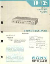 Sony service manual pour ta-F 35
